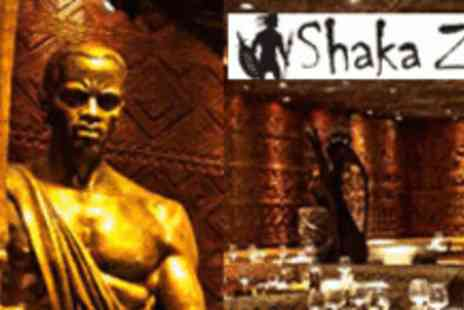 Shaka Zulu - 3 Course Dinner PLUS Caipirinha Cocktail - Save 66%