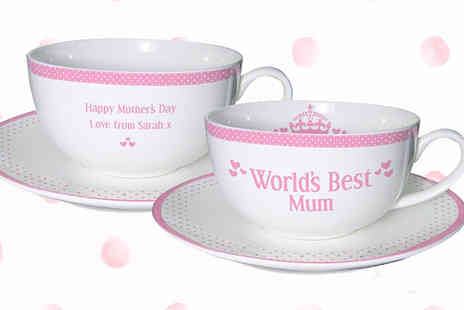 Something Great Limited - Personalised best mum tea set - Save 50%