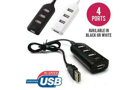 Nettexmedia - Mini USB 2.0 High Speed 4 Port Hub - Save 80%