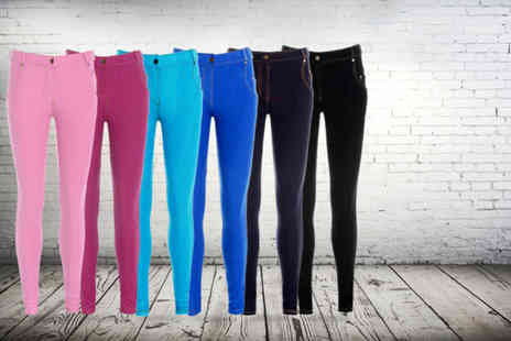 Karma Clothing - Pair of jeggings in a choice of 6 colours  - Save 65%