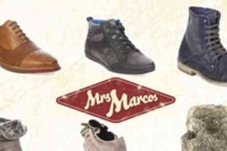 Mrs Marcos - £35 Towards Designer Shoes - Save 60%