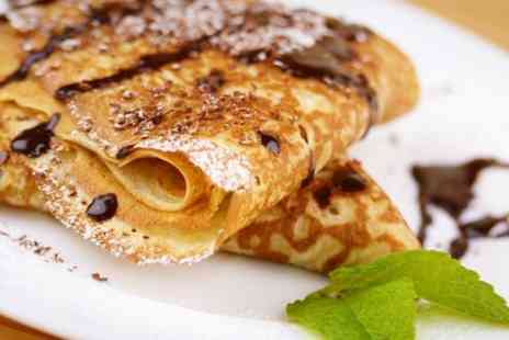 The Blue Chair Boutique Cafe - Blueberry Pancakes With Toppings - Save 44%