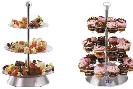Cheerful Bargains - Sensiohome Electric Rotating Cupcake Party Platter Stand - Save 37%