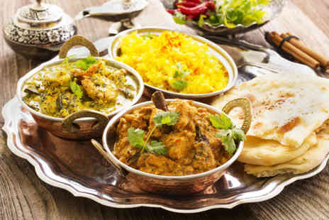 Nawaab Restaurant - Two course Indian meal for 2 including a glass of wine - Save 59%