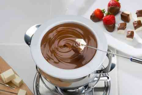 Cafe Bruxelles - Belgian Chocolate or Cheese Fondue For two - Save 53%