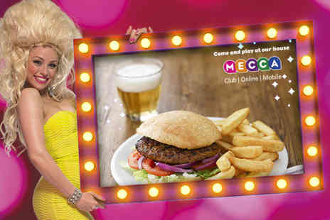 Mecca Bingo - Bingo session for 2 including a burger drink and a free game of bingo - Save 50%