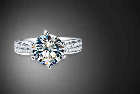 Magic Diamonds - One ct diamond ring made from 18k white gold - Save 80%