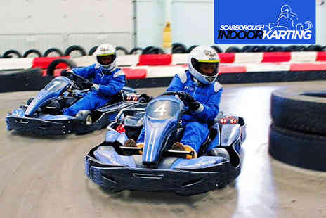 Scarborough Indoor Karting - 40 Go Karting Laps Each for Two People - Save 50%
