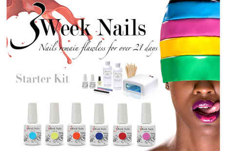 3weeknails - Home Gel Manicure Starter Kit - Save 69%
