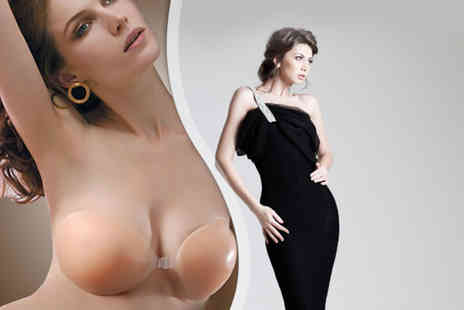 Cissors Palace - GelSilicon invisible push up bra in black transparent or nude - Save 64%