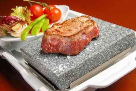 Fleur De Lis - Hot Rock Steak or Kangaroo Rump With Wine For Two - Save 52%