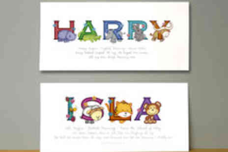 Frame My Name - Voucher for an Animal Adventures Childs Name Print - Save 60%