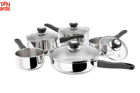 BBentley  Karvel - Morphy Richards 5pc Stainless Steel Pan Set - Save 56%