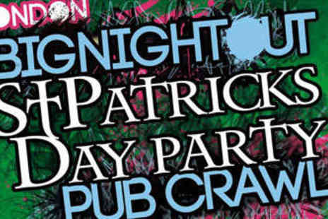1 Big Night Out - St Patricks Day Party with T Shirt - Save 52%