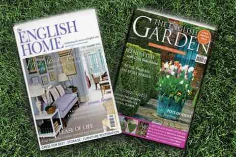 Subscription Save - The English Home or The English Garden Magazine - Save 63%