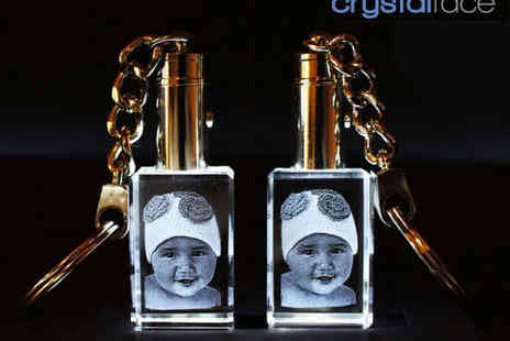 Crystal Face - Two Crystal Photo Keychains - Save 51%
