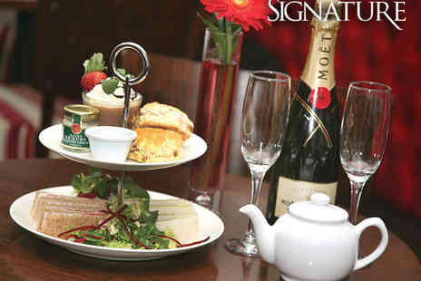 Signature Steak House - Champagne Afternoon Tea for Two - Save 50%