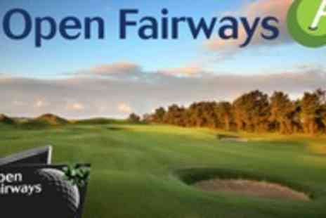 Open Fairways - 12 month golf course membership - Save 78%