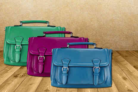 Miss Lulu - Stylish faux leather satchel in a choice of 9 colours - Save 48%