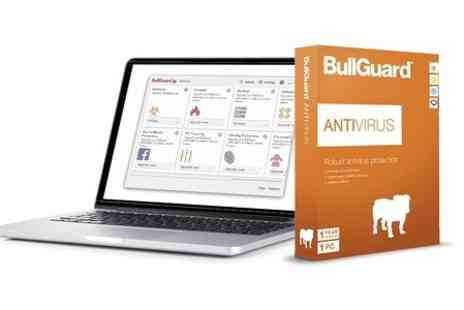 Bullguard - PC Antivirus Software One Year License For One PC - Save 64%