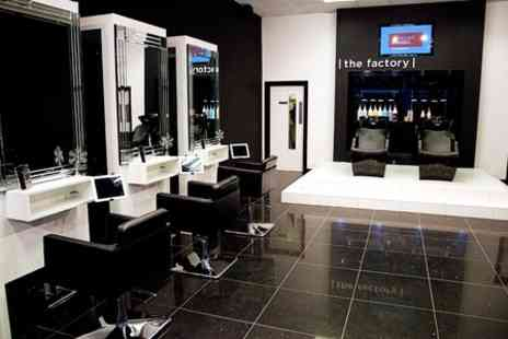 The Factory Grooming Salon - Full Head Colour With Cut and Finish - Save 53%