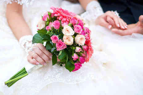 Flowers & Events by Lisa - Wedding flowers package including 3 bouquets and five buttonholes - Save 46%