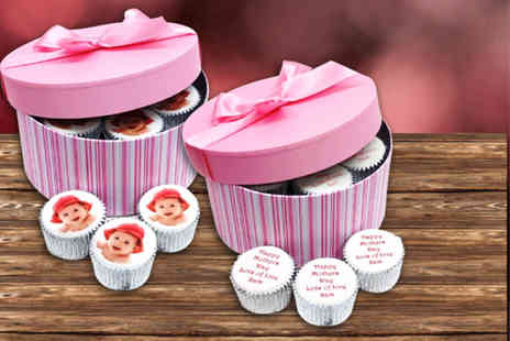 CakeToppers - Box of 6 personalised Mothers Day cupcakes - Save 62%