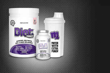 Real Nutrition Company - Four week supply of weight management shake mix plus CLA soft gels and a shaker - Save 75%