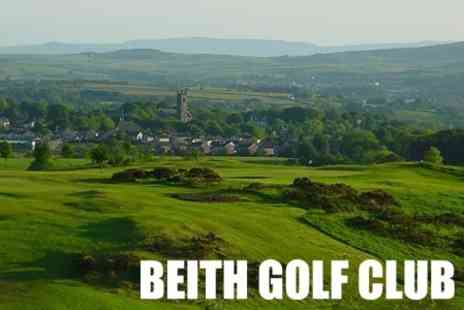 Beith Golf Club - Round of Golf for Two Plus Refreshments - Save 60%