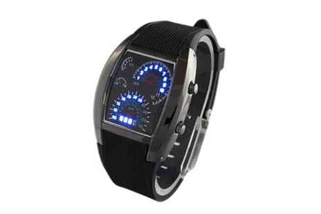 Nettexmedia - Dashboard Design LED Mens Watch - Save 50%