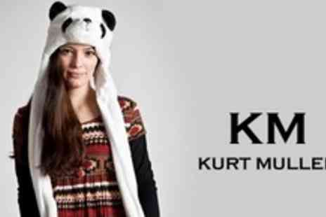 Kurt Muller - Two Teddy Fleece Snoods or Animal Hats - Save 60%