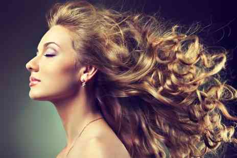 Glowing Salon - Half head of highlights cut and blow dry - Save 63%