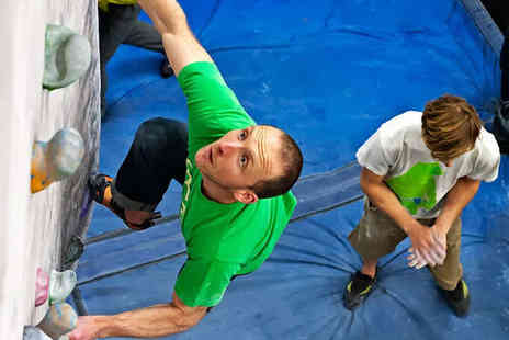 The Climbing Hangar - Full Day of Indoor Bouldering with Induction and Equipment Hire for One - Save 67%