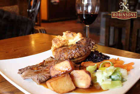 The Drum & Monkey - Starter and Sunday Roast Main Each for Two  - Save 54%