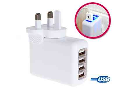 Nettexmedia - 4 Port USB Wall Charger - Save 50%
