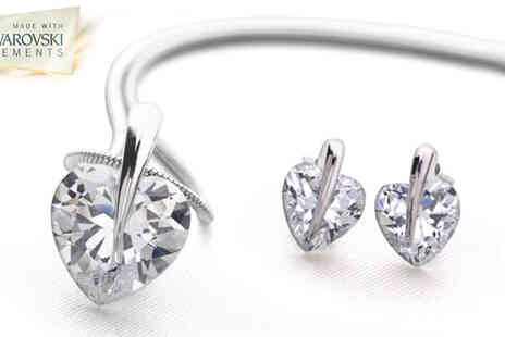 Z Marketing House - Crystal Heart Set made with Swarovski Elements - Save 92%