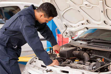 Triumph Road Tyres - Full car service including exterior car wash  - Save 61%