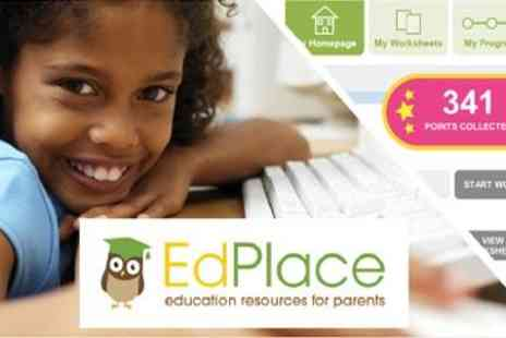EdPlace - Fantastic online tool to help your childs education 3 Month and Annual Subscription - Save 50%