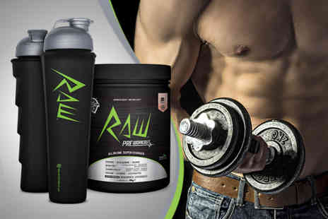 Real Nutrition Company - RAW pre workout performance drink and bottle - Save 52%