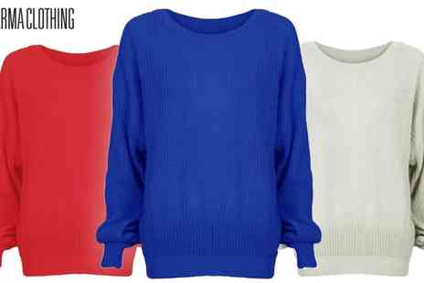 Karma Clothing - Oversized Boyfriend Jumpers in 15 Colours - Save 33%