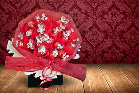 Nes Fruitilicious Bouquets - Gift wrapped Lindor and Ferrero Rocher bouquet including a personalised message - Save 50%