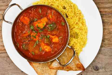 Jamdani - Two course Indian meal for 2 including a bottle of wine - Save 59%