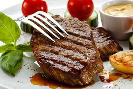 Queens Steak House and Grill - Two Course Fillet Steak Meal With Wine For Two - Save 59%