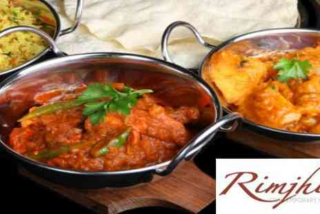New Rimjhim - Any curry dish and rice for two  - Save 66%