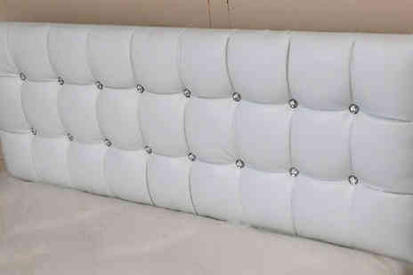 4HomeBeds - Vogue Diamante Faux Leather Headboard - Save 50%