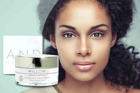 Willow Beauty Products - 50ml tub of Rose and Manuka Honey Night Cream - Save 81%