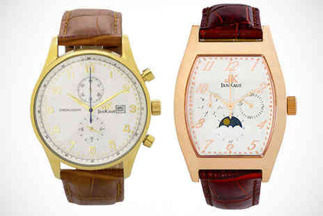 Jan Kauf - Mens Watch in Choice of Two Styles - Save 78%