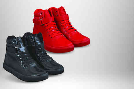 Briers - Pair of red or black high top welly trainers - Save 57%
