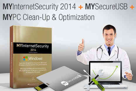 MYSecurityCenter - MY PC Bundle Including MYSecure 16GB USB Key MYInternetSecurity - Save 85%