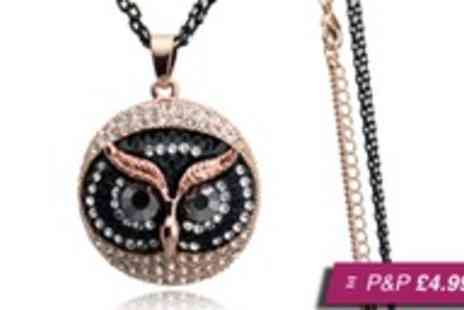 cocobury - Gold plated owl pendant - Save 80%